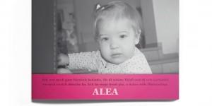 Dankeskarte Alea