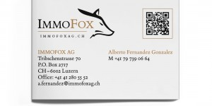 IMMOFOX AG Visitenkaren hinten