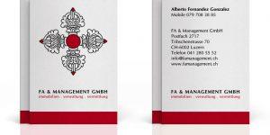 FA & Management GmbH, Visitenkarten