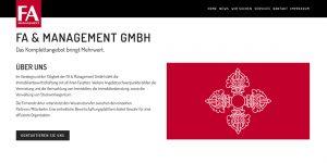 Neue Webseite FA & Management GmbH