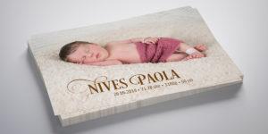 Geburtskarte Nives Paola